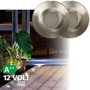 Luxform Deck Light = Alpha 42mm - 2 Pack