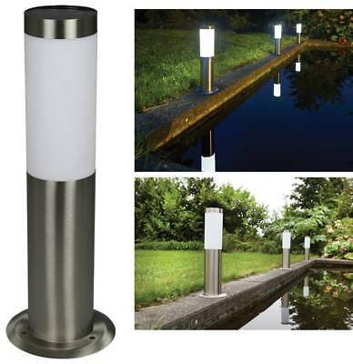 Luxform Solar Stainless Steel Post Light = Idaho