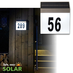 Luxform Solar Wall Light House Number = Cornwall