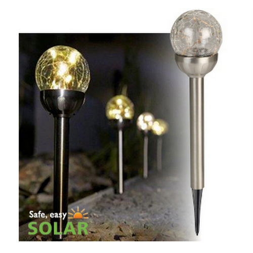 Luxform Lighting Solar Stake Light – Large Globe - 4 Lights