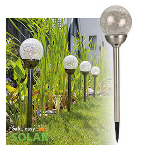 Luxform Lighting Solar Stake Light – Small Globe - 4 Lights