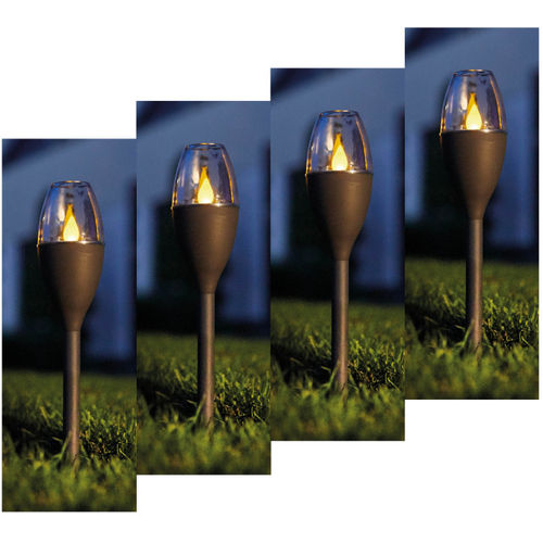 Luxform Lighting Solar Mini Flame Spike Light - 4 Lights