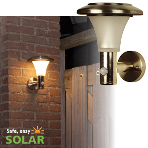 Luxform Solar Wall light + PIR = Calais