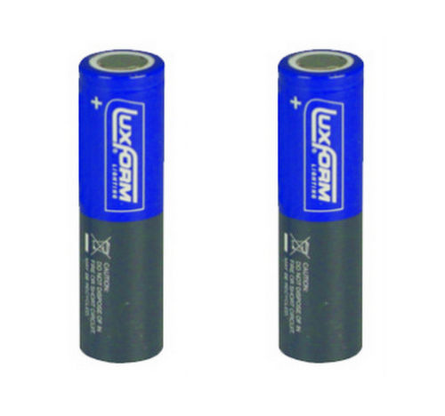 Luxform Lighting Rechargeable Battery 18650 Li-Ion 2000 mAh 3.7V (2 off)