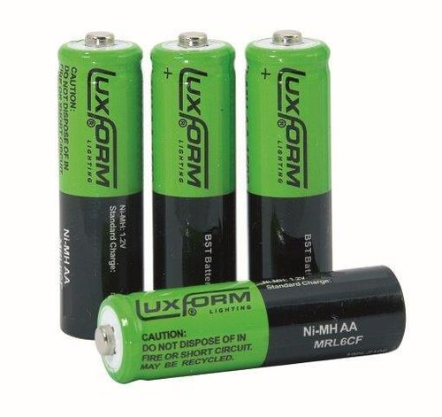 Luxform Lighting AA Rechargeable Battery - 800 mAH NimH 1.2V  (4 Pack)