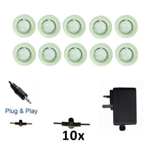 Luxform Garden Lights Calypso Deck Light (10 Set) Plug & Play System