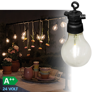 Luxform Lighting 10 Pack Party Lights with Traditional Clear Bulbs - Tahiti