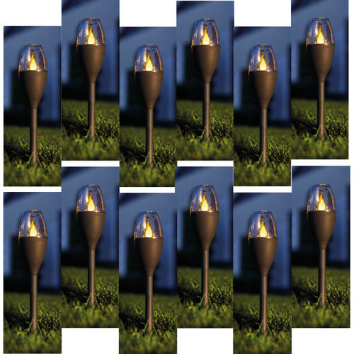 Luxform Solar Mini Flame Spike Light – Jive - 12 Lights